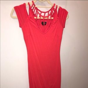 Bebe Coral Color Dress 👗 Size Small